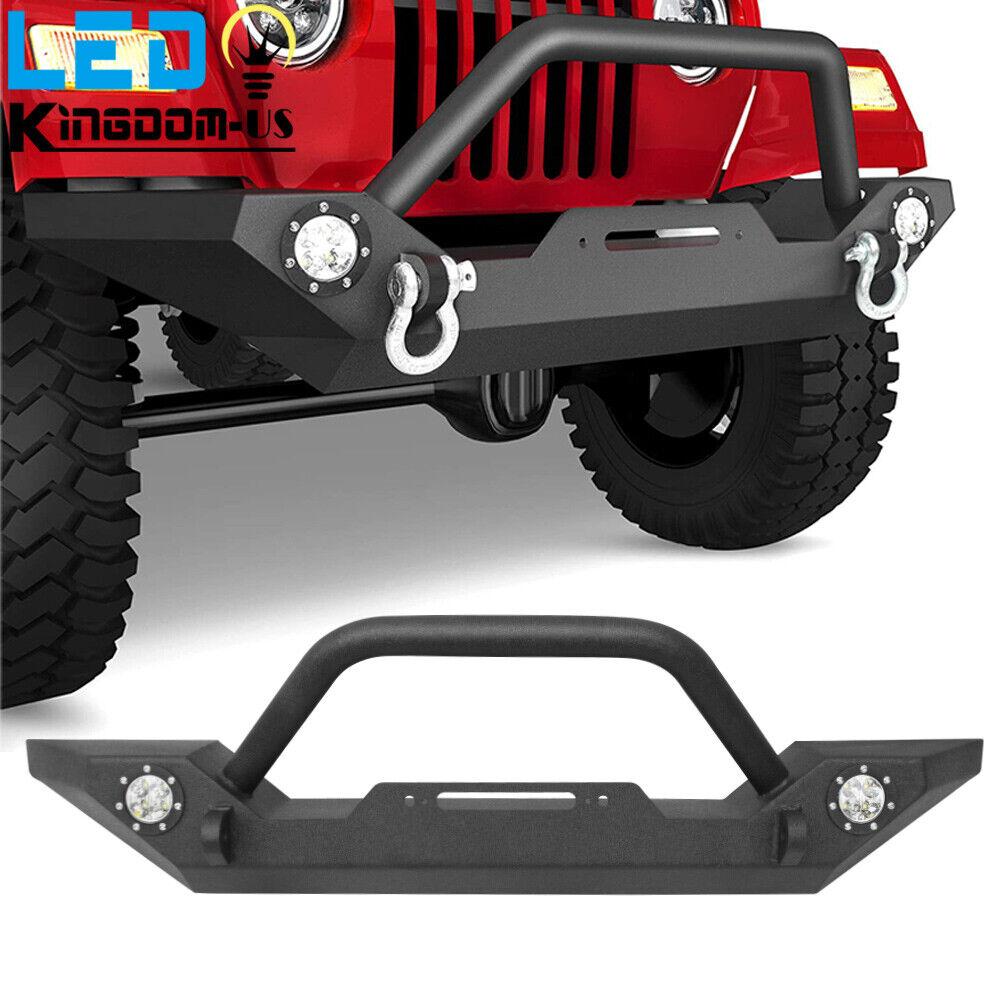1986-2006 Jeep Wrangler TJ YJ Front Bumper Winch Plate D-Ring Rock Crawler Black