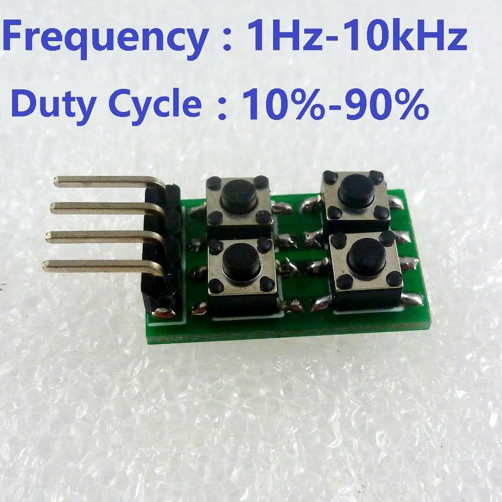 Duty Cycle Frequency Adjustable Pwm Square Wave Pulse Generator Adjustabledutycycle Squarewave Oscillator Circuit Diagram Module Led Ne555 For Sale