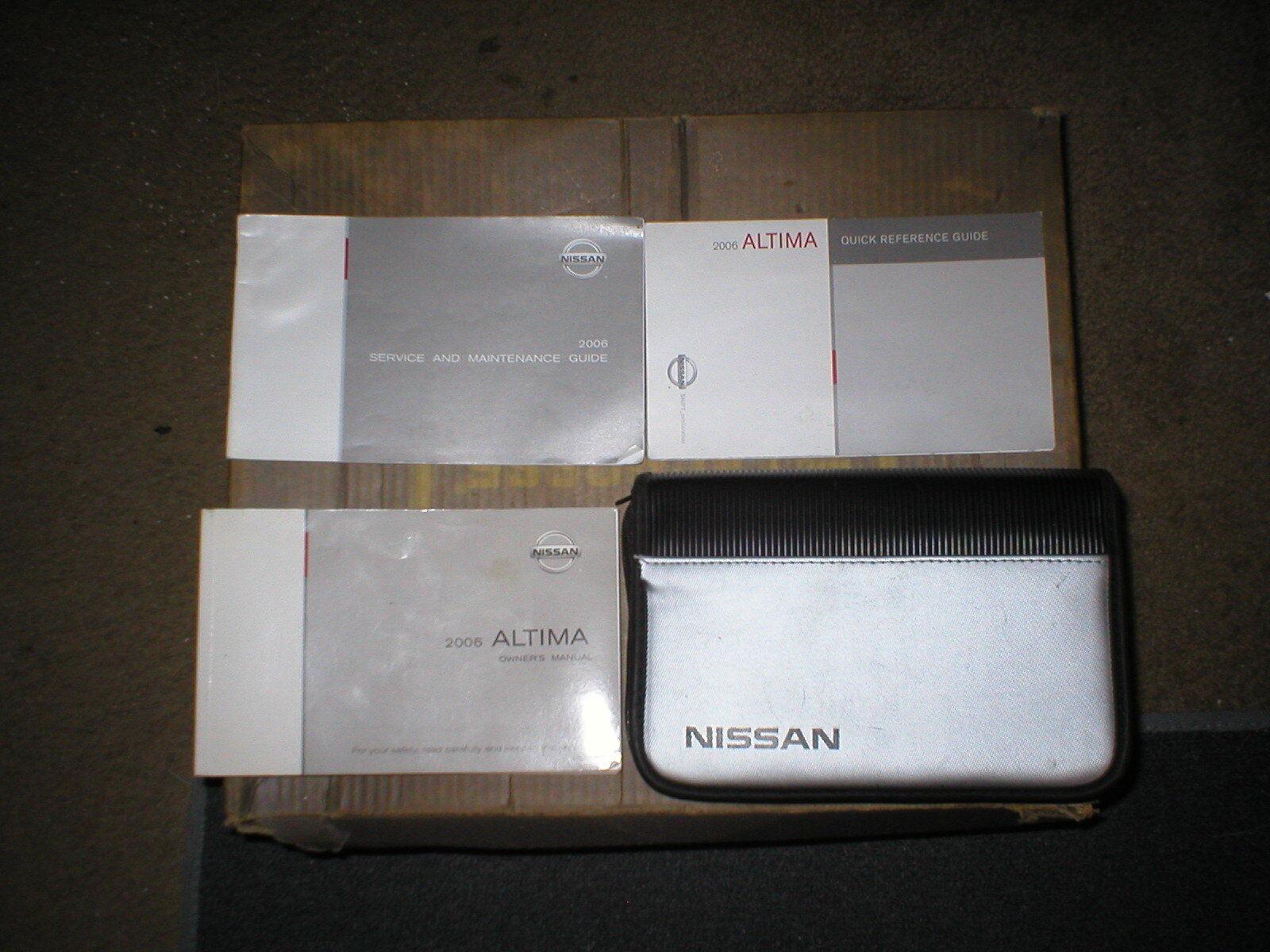2006 nissan altima owner manual