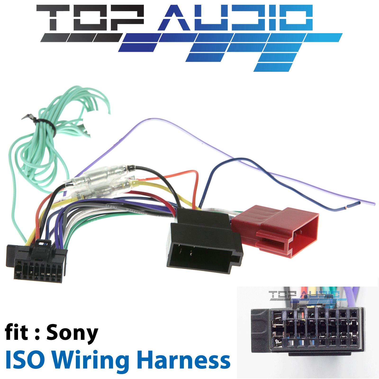 Sony Xav 68bt Iso Wiring Harness Cable Adaptor Connector Lead Loom Car Stereo Radio Adapter Wire Plug For Sale