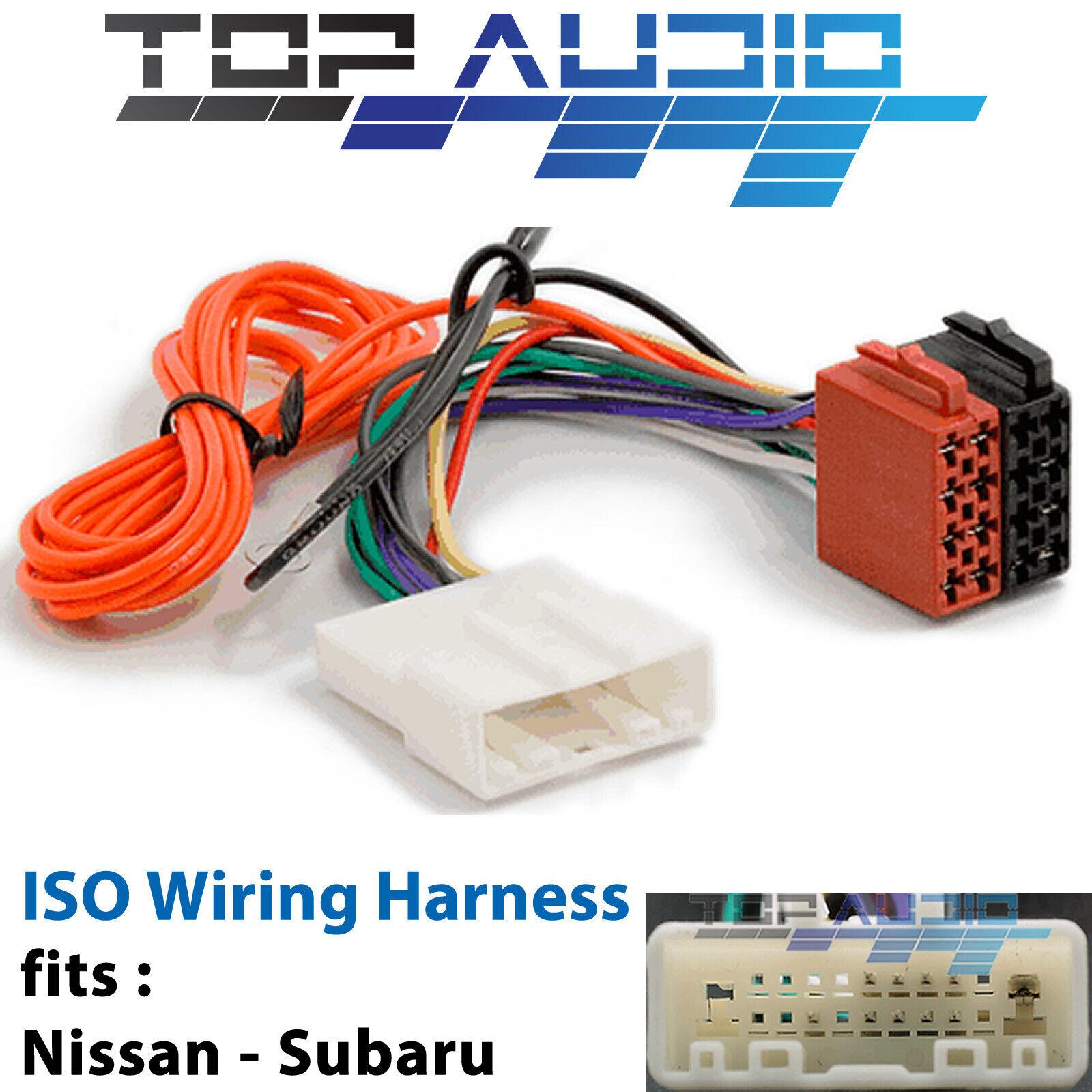 fit SUBARU ISO wiring harness adaptor cable connector lead loom plug