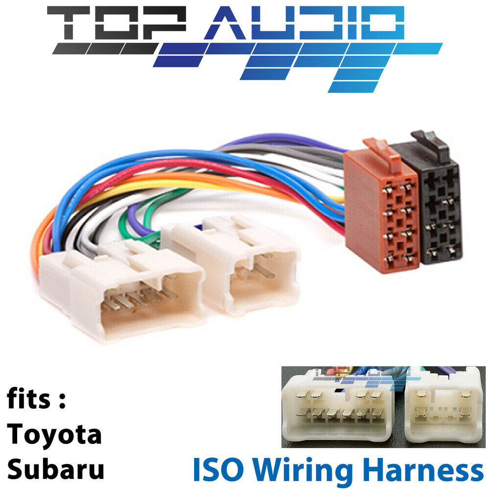 fit Toyota ISO WIRING HARNESS stereo radio plug lead wire loom connector  adaptor For Sale
