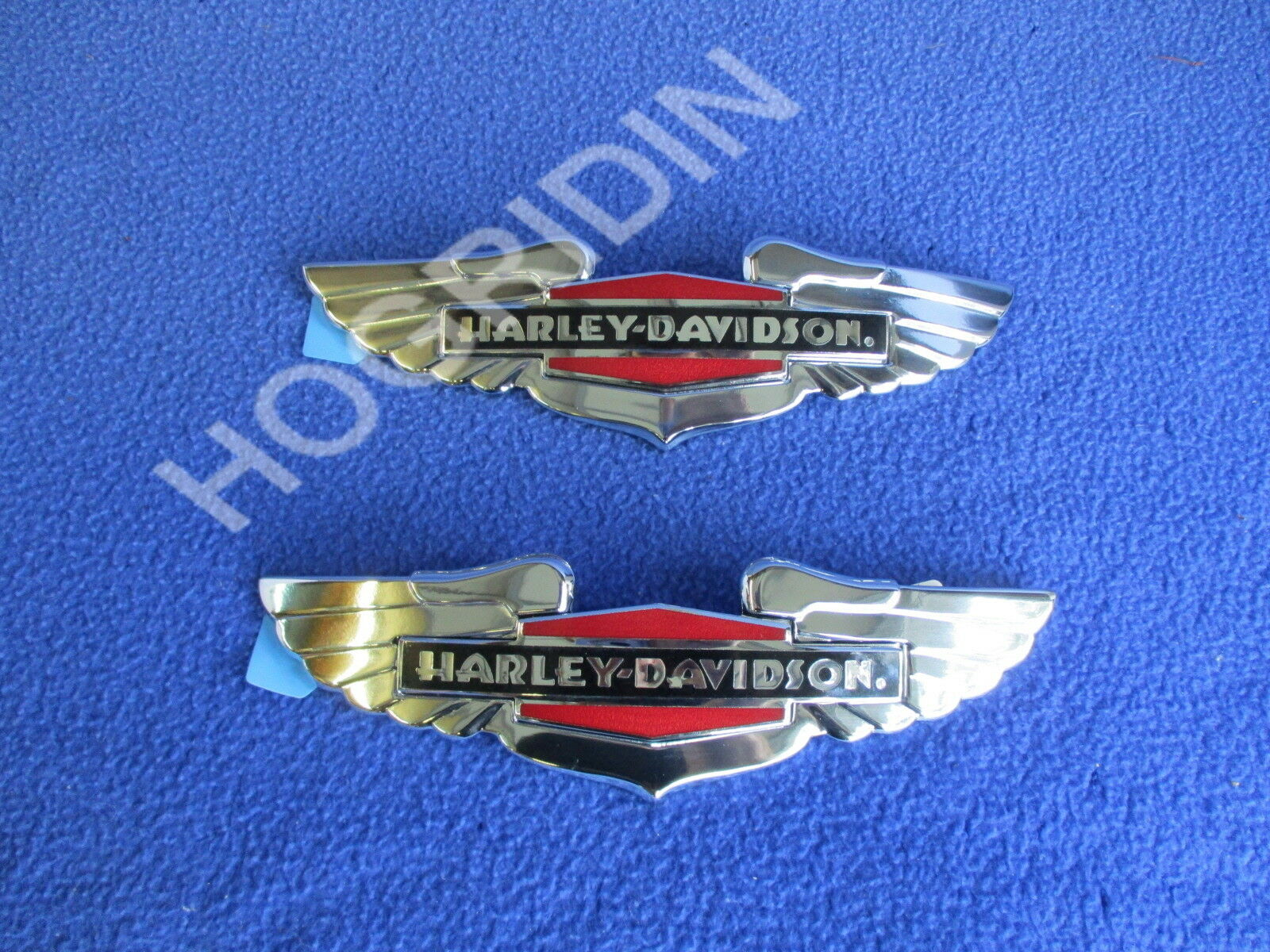 H D Oem Harley Dyna Softail Sportster Touring Gas Fuel Tank Emblems Medallions Vehicle Parts Accessories Decals Stickers