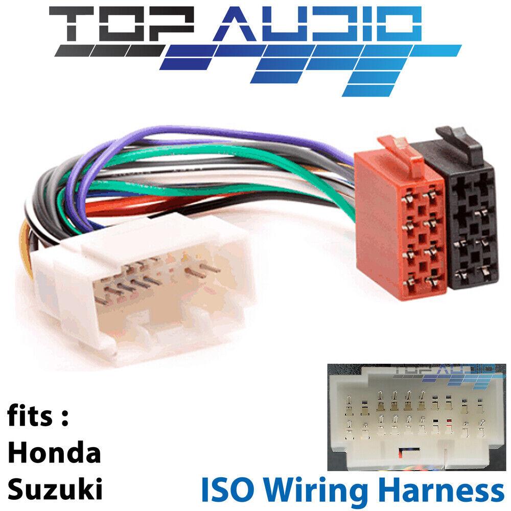 Honda Suzuki Iso Wiring Harness Stereo Radio Lead Loom Connector Harnesses Adaptor For Sale