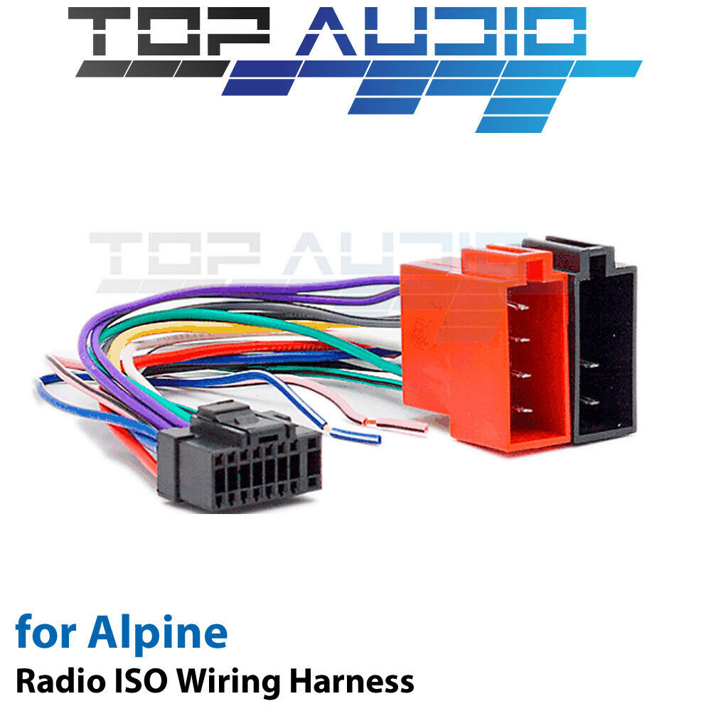 Alpine iLX-007E ISO Wiring Harness cable adaptor connector lead loom plug  For Sale