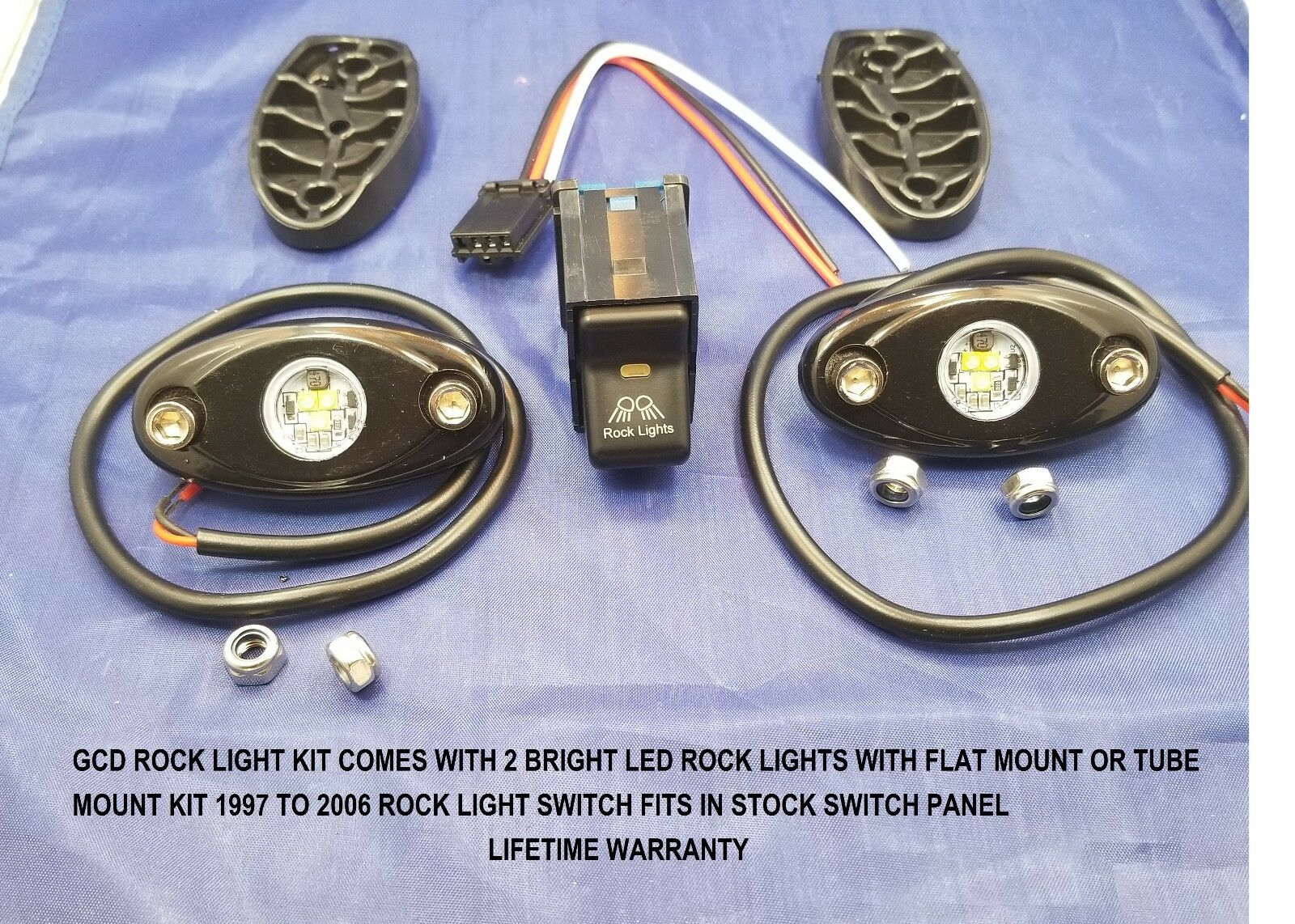 Jeep Tj Wrangler 1997 Rock Light Switch Kit And Led Lights New Switches Item For Sale