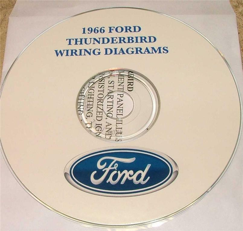 1966 Ford Thunderbird Wiring Diagram Manual On Cd For Sale