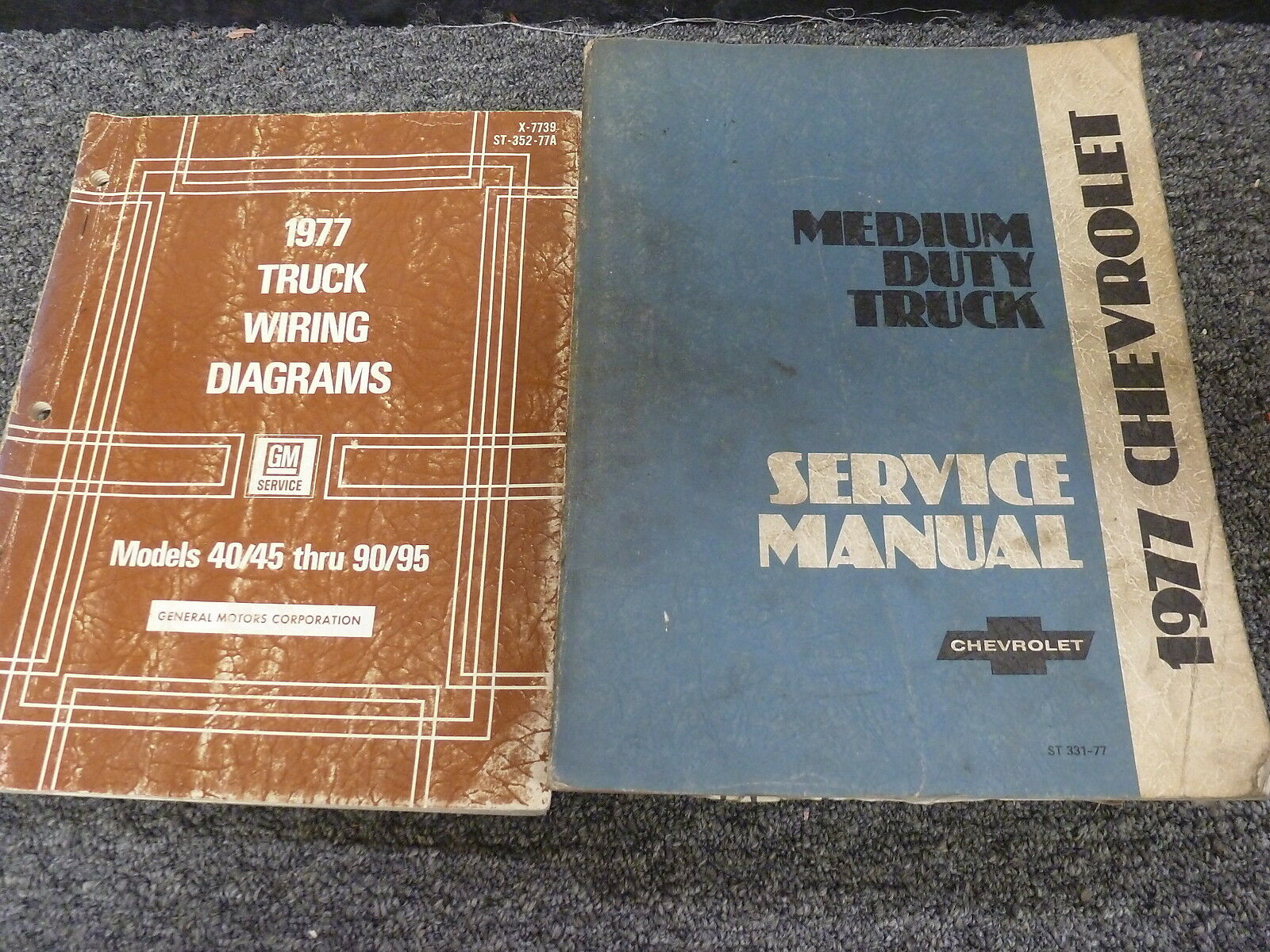 1977 Chevy C40 C50 C60 C70 Truck Wiring Diagrams & Shop Service Repair Manual For Sale