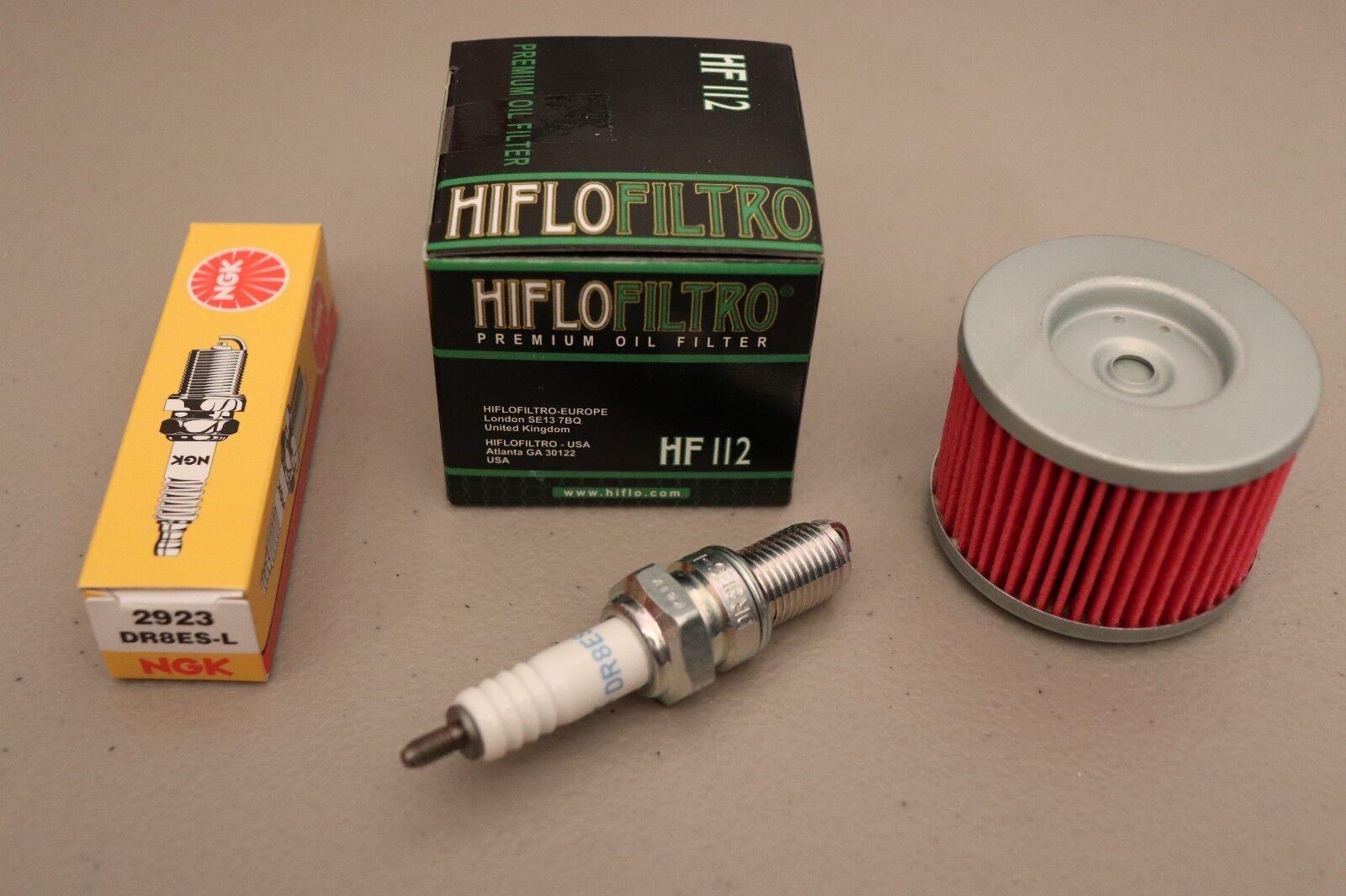 Honda ATC350X NGK DR8ES-L NGK Spark Plug /& K/&N Oil Filter ATC 350X