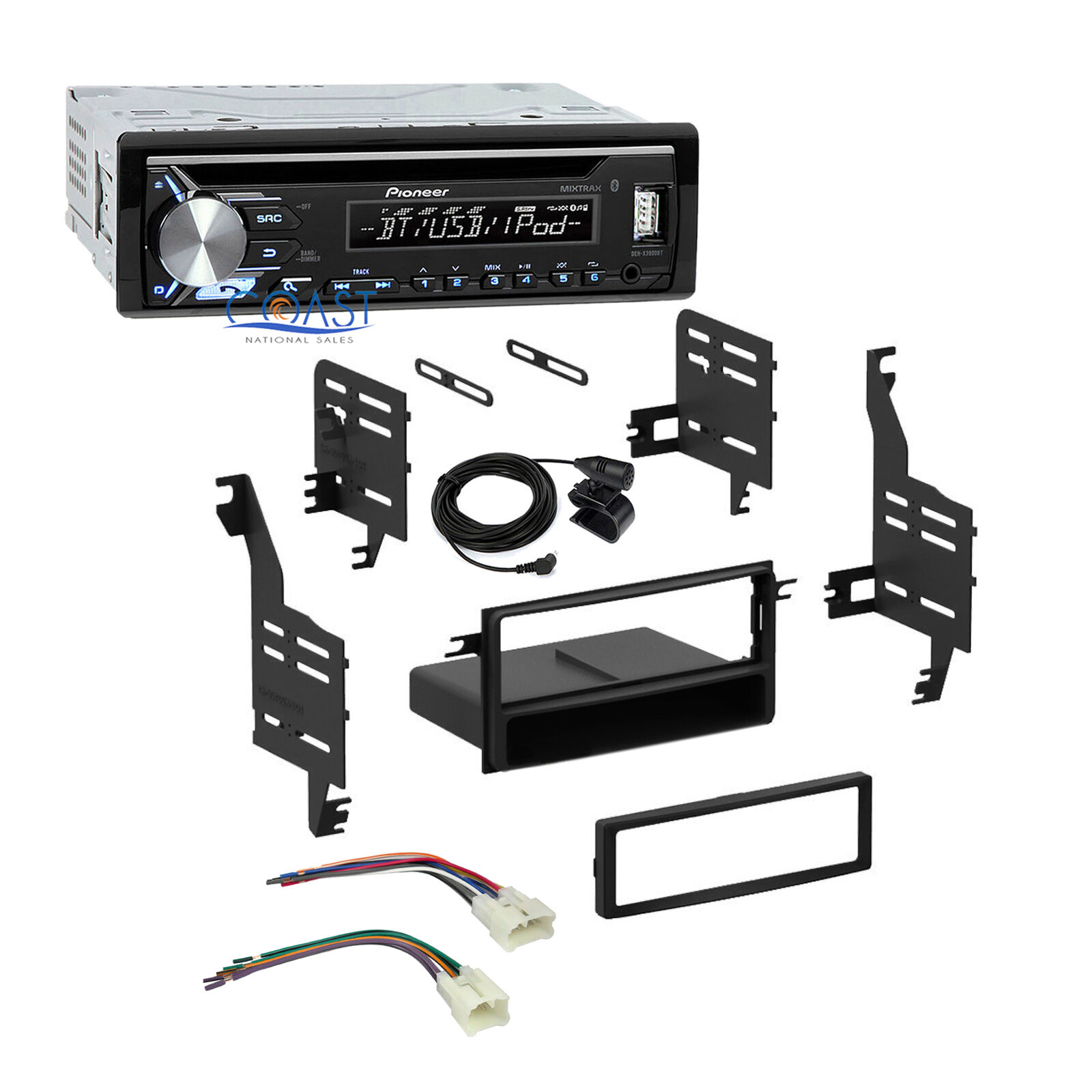 Pioneer Car Stereo Bluetooth Usb 1 Din Dash Kit Harness For 04 08 Corolla Double Or Single Radio Wiring Toyota Scion Sale