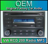 VW RCD 310 CD MP3 player, VW Polo car stereo headunit, Supplied with