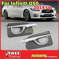 Base Model Fog Light Cover For 14-17 Infiniti Q50 Left Driver Side L