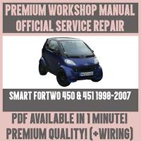 official workshop manual service repair smart fortwo 450 451 1998 rh restomods com 2005 smart fortwo owners manual pdf 2005 smart car service manual