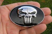 "PUNISHER 2 3//4/"" Chrysler Replacement 70mm CAR EMBLEM Metal Badge *NEW UNIQUE B"