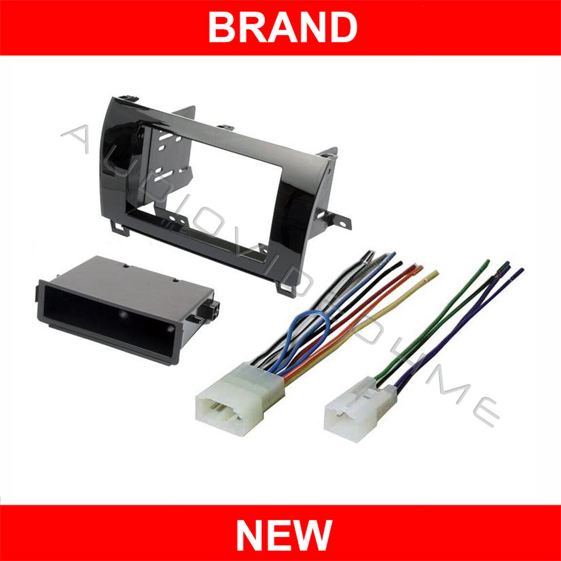 Gloss Radio Stereo Install Double Din Dash Mount Kit Wire