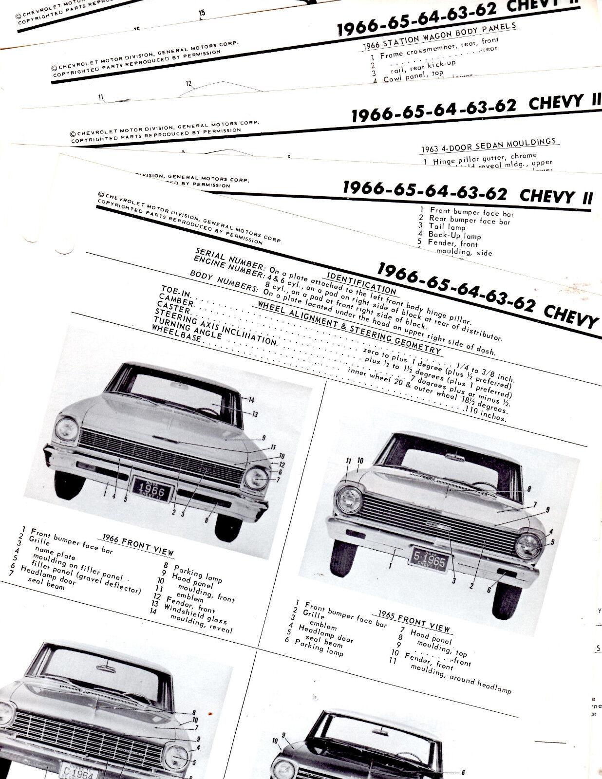 1962 1963 1964 1965 1966 CHEVY II NOVA BODY FRAME MOTORS
