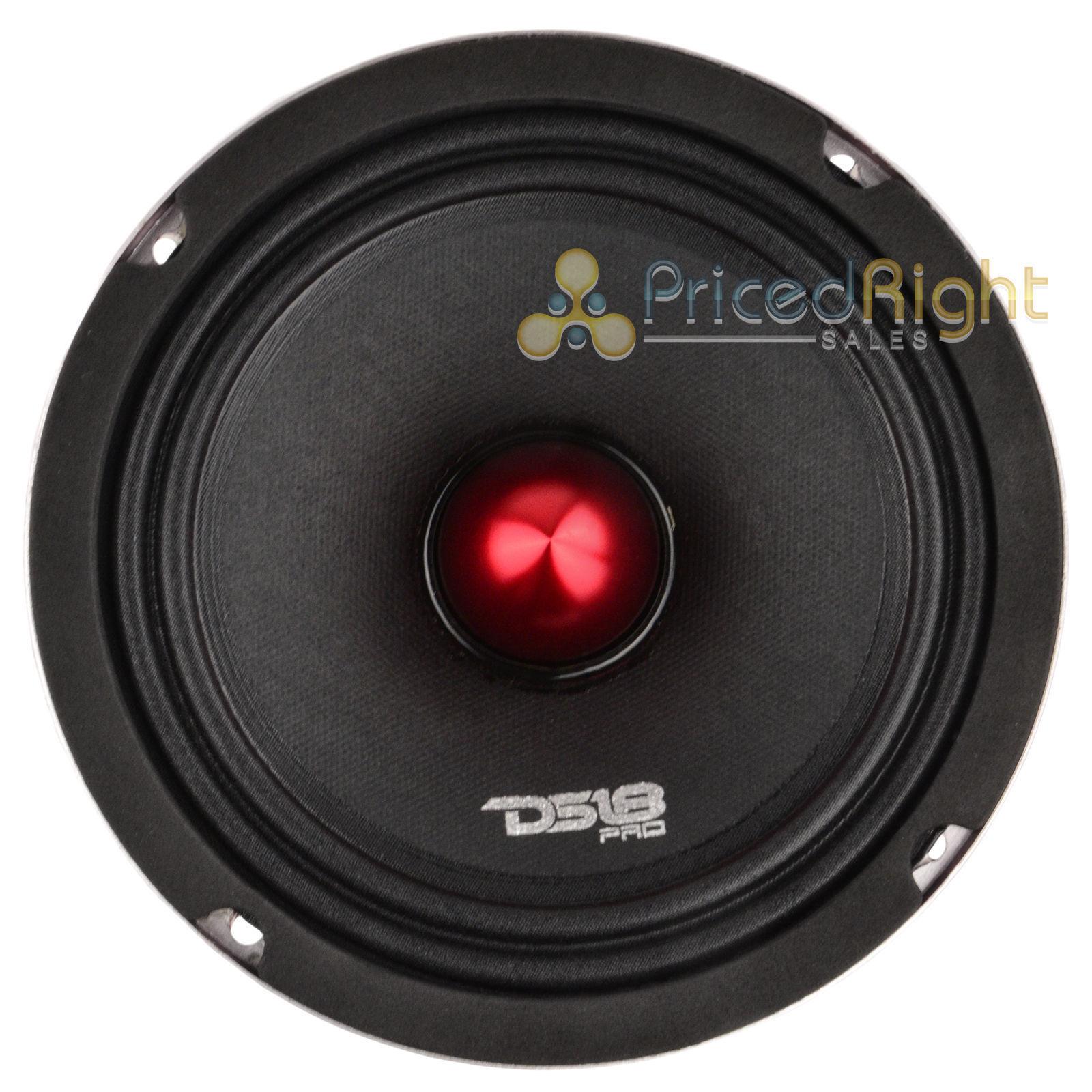 "2 DS18 PRO-X6.4BM 1200W Max 6.5/"" Midrange Speakers Loudspeaker With Bullet 4 Ohm"