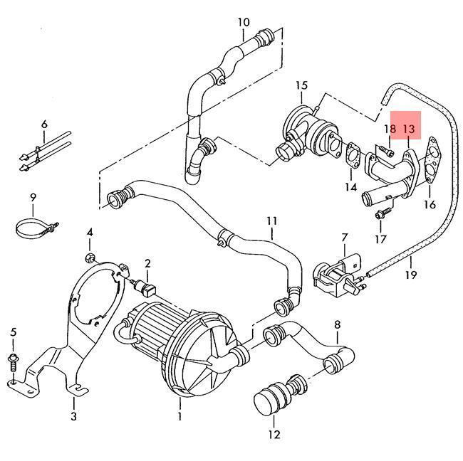Genuine Adapter Vw Audi Beetle Eos Golf R32 Gti Rabbit Jetta Variant