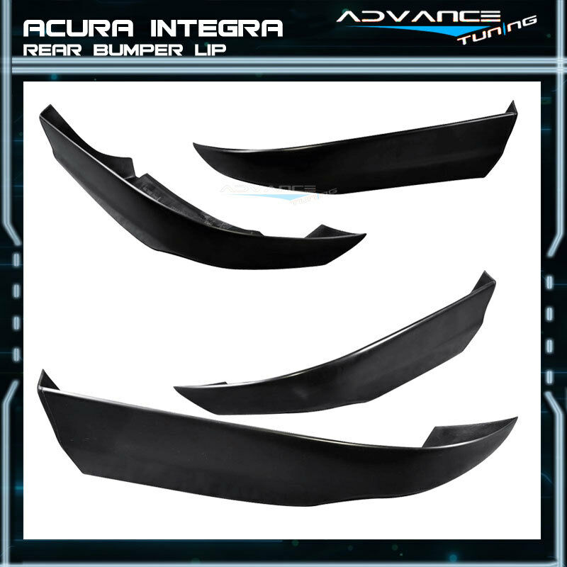 Fits 94-97 Acura Integra 2Dr T-R Style PU Rear Bumper Lip
