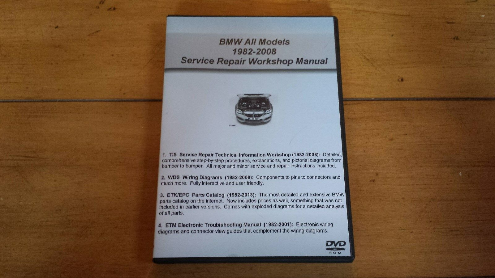 Bmw Tis Wds Etk Epc Service Shop Repair Manual Set Combo Engine Diagram Of 1994 318 Pack Dvd For Sale