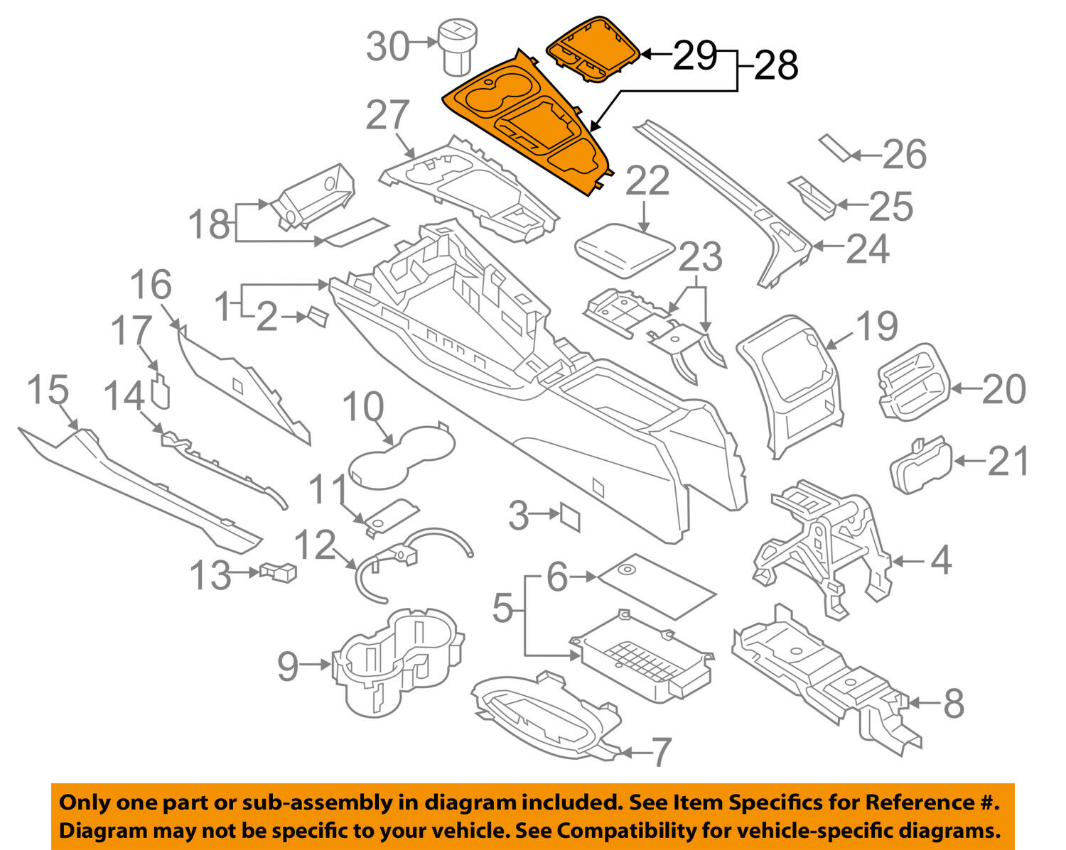 Audi A4 Console Diagram Great Design Of Wiring 1998 1 8t Engine Oem 17 18 Finish Panel Trim 8w1864241a6ps For Sale Rh Restomods Com 97 Fuse Box Location Radio Schematic