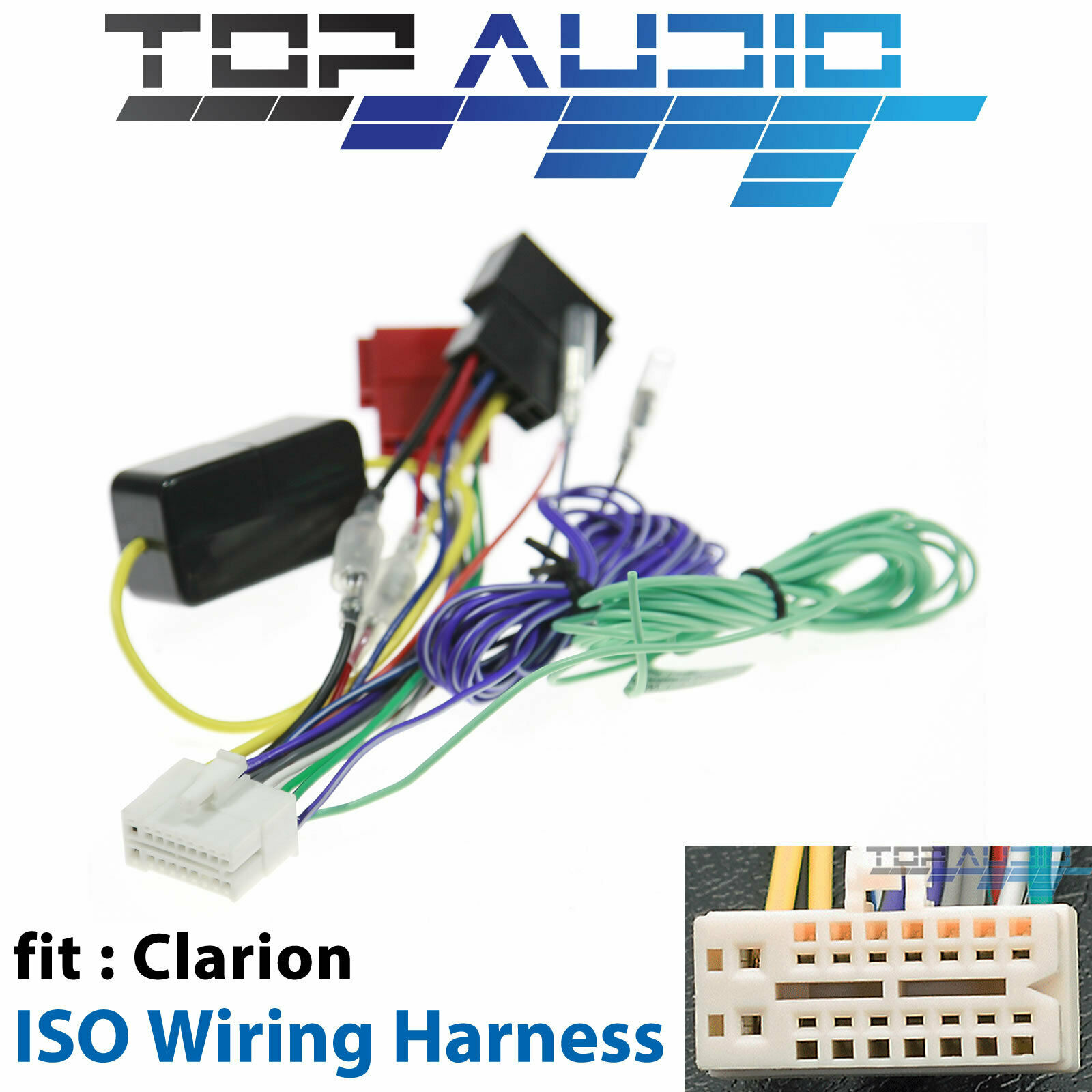 Clarion Vz402a Iso Wiring Harness Cable Connector Adaptor Lead Loom Wire Plug For Sale