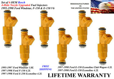1995-1998 ford f-150 Bosch Fuel Injector Matched Set Ford 3.8L 4.2 F65E-A4A