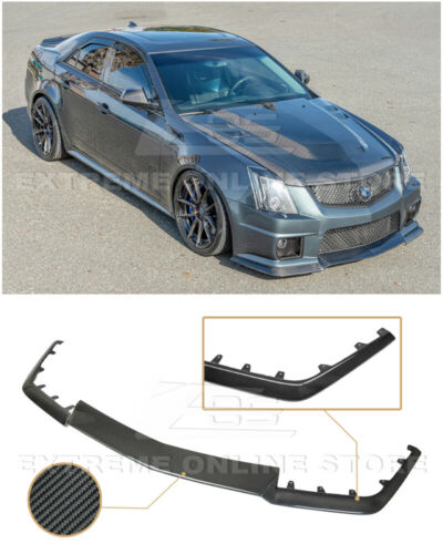 Fit For 08-15 Cadillac CTS V PU Front Bumper Lip Spoiler H