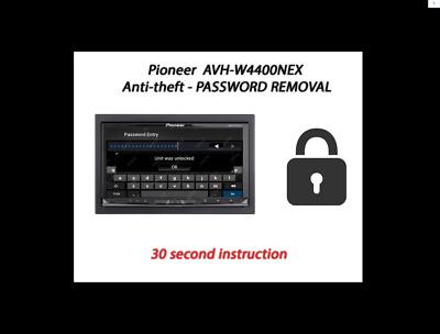 PASSWORD UNLOCK REMOVAL PIONEER AVH-4201NEX AVIC-5201NEX  AVIC-6201NEX  no Tool
