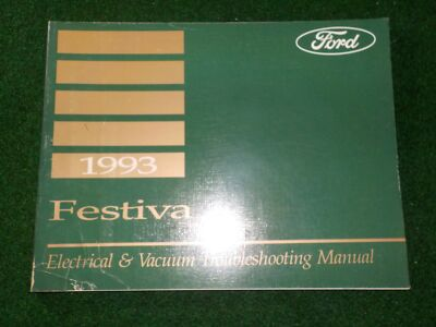 1993 ford festiva electrical \u0026 vacuum troubleshooting manual factory Ford 500 Wiring Diagram 1993 ford festiva electrical wiring diagram manual dealer factory