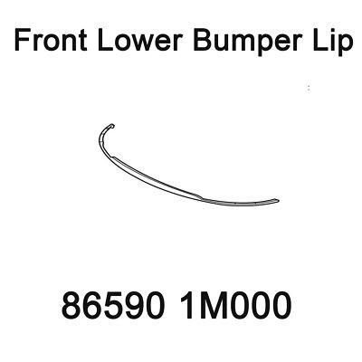 86590 1M000 Front Lower Bumper Lip for 2008 2012 Kia Forte