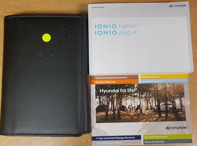 GENUINE HYUNDAI IONIQ HYBRID OWNERS AUDIO MANUAL HANDBOOK WALLET